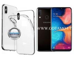Skin silikoninis dėklas Samsung Galaxy A20e telefonams