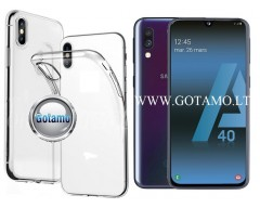 Skin silikoninis dėklas Samsung Galaxy A40 telefonams
