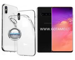 Skin silikoninis dėklas Samsung Galaxy S10 telefonams