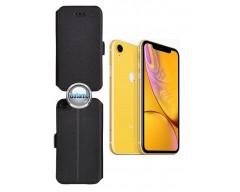 Slim Diary dėklas Apple iPhone XR mobiliesiems telefonams juodos spalvos