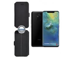 Slim Diary dėklas Huawei Mate 20 Pro mobiliesiems telefonams juodos spalvos