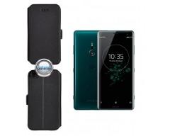 Slim Diary dėklas Sony Xperia XZ3 telefonams juodos spalvos