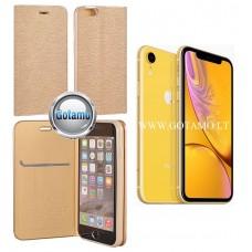 Vennus Diary magnetinis dėklas Apple iPhone XR telefonams aukso spalvos Telšiai | Vilnius | Telšiai