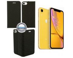 Vennus Diary magnetinis dėklas Apple iPhone XR telefonams Carbon juodos spalvos