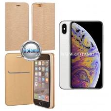 Vennus Diary magnetinis dėklas Apple iPhone Xs Max telefonams aukso spalvos Vilnius | Klaipėda | Palanga