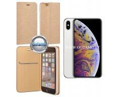 Vennus Diary magnetinis dėklas Apple iPhone Xs Max telefonams aukso spalvos