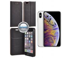 Vennus Diary magnetinis dėklas Apple iPhone Xs Max telefonams juodos spalvos