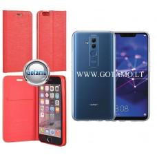 Vennus Diary magnetinis dėklas Huawei Mate 20 Lite telefonams raudonos spalvos