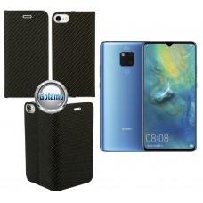 Vennus Diary magnetinis dėklas Huawei Mate 20 telefonams Carbon juodos spalvos