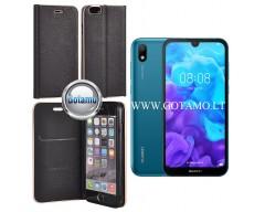 Vennus Diary magnetinis dėklas Huawei Y5 (2019) Huawei Honor 8S telefonams juodos spalvos