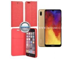 Vennus Diary magnetinis dėklas Huawei Y6 (2019) Huawei Honor 8A telefonams raudonos spalvos