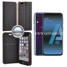 Vennus Diary magnetinis dėklas Samsung Galaxy A40 telefonams juodos spalvos Šiauliai | Vilnius | Šiauliai