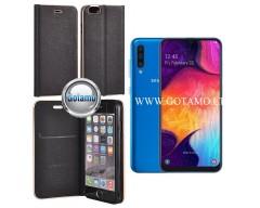 Vennus Diary magnetinis dėklas Samsung Galaxy A50 telefonams juodos spalvos