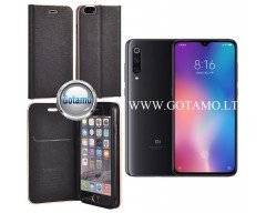 Vennus Diary magnetinis dėklas Xiaomi Mi 9 telefonams juodos spalvos
