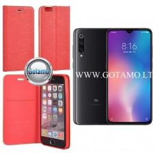 Vennus Diary magnetinis dėklas Xiaomi Mi 9 telefonams raudonos spalvos