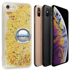 Waterfall dėklas nugarėlė Apple iPhone X Xs telefonams aukso spalvos