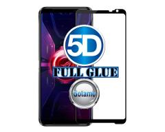 Apsauga ekranui gaubtas grūdintas stiklas Asus ROG Phone 3 mobiliesiems telefonams juodos spalvos 5D pilnas padengimas klijais