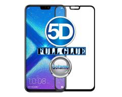 Apsauga ekranui gaubtas grūdintas stiklas Huawei Honor 8X mobiliesiems telefonams juodos spalvos 5D pilnas padengimas klijais
