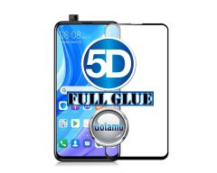 Apsauga ekranui gaubtas grūdintas stiklas Huawei P Smart Pro (2019), Huawei Y6 Prime mobiliesiems telefonams juodos spalvos 5D pilnas padengimas klijais