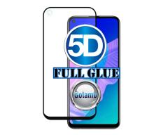 Apsauga ekranui gaubtas grūdintas stiklas Huawei P40 Lite E, Huawei Y7P mobiliesiems telefonams juodos spalvos 5D pilnas padengimas klijais