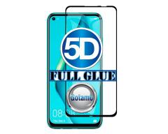 Apsauga ekranui gaubtas grūdintas stiklas Huawei P40 Lite mobiliesiems telefonams juodos spalvos 5D pilnas padengimas klijais