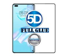 Apsauga ekranui gaubtas grūdintas stiklas Huawei P40 mobiliesiems telefonams juodos spalvos 5D pilnas padengimas klijais