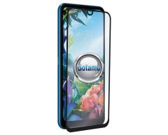 Apsauga ekranui gaubtas grūdintas stiklas LG K40S mobiliesiems telefonams juodos spalvos