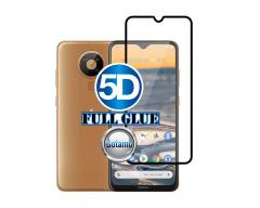 Apsauga ekranui gaubtas grūdintas stiklas Nokia 5.3 mobiliesiems telefonams juodos spalvos 5D pilnas padengimas klijais
