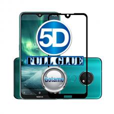 Apsauga ekranui gaubtas grūdintas stiklas Nokia 6.2 Nokia 7.2 mobiliesiems telefonams juodos spalvos 5D pilnas padengimas klijais Telšiai | Klaipėda | Plungė
