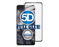 Apsauga ekranui gaubtas grūdintas stiklas OnePlus Nord mobiliesiems telefonams juodos spalvos 5D pilnas padengimas klijais