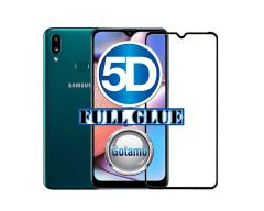 Apsauga ekranui gaubtas grūdintas stiklas Samsung Galaxy A10s mobiliesiems telefonams juodos spalvos 5D pilnas padengimas klijais