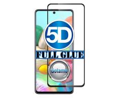 Apsauga ekranui gaubtas grūdintas stiklas Samsung Galaxy A51 mobiliesiems telefonams juodos spalvos 5D pilnas padengimas klijais