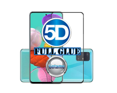 Apsauga ekranui gaubtas grūdintas stiklas Samsung Galaxy Note 10 Lite mobiliesiems telefonams juodos spalvos 5D pilnas padengimas klijais