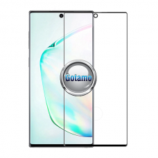 Apsauga ekranui gaubtas grūdintas stiklas Samsung Galaxy Note 10+ mobiliesiems telefonams juodos spalvos