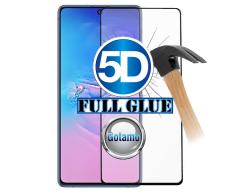 Apsauga ekranui gaubtas grūdintas stiklas Samsung Galaxy S10 Lite mobiliesiems telefonams juodos spalvos 5D pilnas padengimas klijais