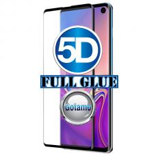 Apsauga ekranui gaubtas grūdintas stiklas Samsung Galaxy S10e mobiliesiems telefonams juodos spalvos 5D pilnas padengimas klijais