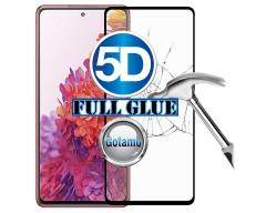 Apsauga ekranui gaubtas grūdintas stiklas Samsung Galaxy S20 FE mobiliesiems telefonams juodos spalvos 5D pilnas padengimas klijais