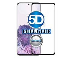 Apsauga ekranui gaubtas grūdintas stiklas Samsung Galaxy S20 mobiliesiems telefonams juodos spalvos 5D pilnas padengimas klijais