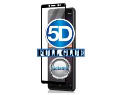 Apsauga ekranui gaubtas grūdintas stiklas Sony Xperia 10 II mobiliesiems telefonams juodos spalvos 5D pilnas padengimas klijais