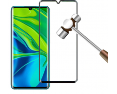 Apsauga ekranui gaubtas grūdintas stiklas Xiaomi Mi Note 10, Xiaomi Mi Note 10 Pro mobiliesiems telefonams juodos spalvos