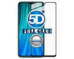 Apsauga ekranui gaubtas grūdintas stiklas Xiaomi Redmi Note 8 Pro mobiliesiems telefonams juodos spalvos 5D pilnas padengimas klijais