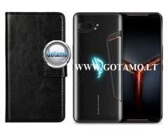 Diary Mate dėklas Asus ROG Phone 2 mobiliesiems telefonams juodos spalvos