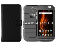 Diary Mate dėklas CAT S31 mobiliesiems telefonams juodos spalvos