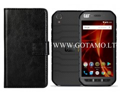Diary Mate dėklas CAT S41 mobiliesiems telefonams juodos spalvos