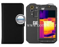 Diary Mate dėklas CAT S60 mobiliesiems telefonams juodos spalvos