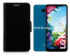 Diary Mate dėklas LG K40S mobiliesiems telefonams juodos spalvos