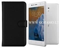 Diary Mate dėklas Nokia 3 mobiliesiems telefonams juodos spalvos