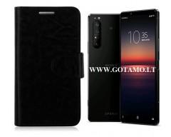 Diary Mate dėklas Sony Xperia 1 II mobiliesiems telefonams juodos spalvos