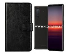 Diary Mate dėklas Sony Xperia 5 II mobiliesiems telefonams juodos spalvos