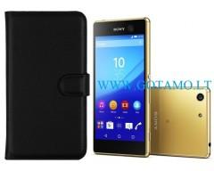 Diary Mate dėklas Sony Xperia M5 mobiliesiems telefonams juodos spalvos